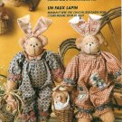 Bunny Bear Family Sewing Pattern Plush Stuffed Animal Toy Babies Country 12 Inch Clothes 7570