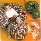 Kids Child Chair Ottoman Sewing Pattern Furniture Overstuffed Soft Comfy Easy Nursery Playroom 2551