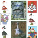 Yard House Flags Sewing Pattern Fish Flowers Snowmen Scarecrow Seasons Lawn Geese Clothes 9019