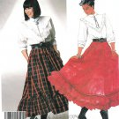 Western Shirt Skirt Sewing Pattern 14 Vintage Country Square Dance Front Back Yoke Ruffle 3268