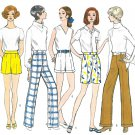 Vogue Vintage Sewing Pattern Misses Pants Slacks Shorts Flared Size 27 Hipster Cuffed 2172