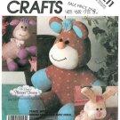 Plush Animal Sewing Pattern Rabbit Lamb Bear 80s Pleasant Dreams Child Nursery Stuffed Toy 3211