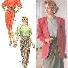 Skirt Top Jacket Sewing Pattern Draped Boxy Kimono Sleeve 90s Retro 12 14 16 Unlined 4732