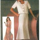Gored Skirt Crop Jacket Sewing Pattern Vintage Tank Suit Jessica McClintock 12 6783