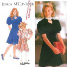 Jessica McClintock Sewing Pattern Girls Dress 12-14 Puffed Sleeve Sweetheart Neck Knee Length 8790