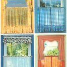 "70's Cafe Curtain Sewing Pattern Vintage Window Topper Valance Swag 40"" Wide Panels 5494 Easy"