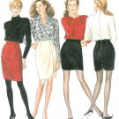 Slim Short Skirt Sewing Pattern 6-16 Darted Mock Wrap Sexy Fit Mini Above Knee 6608