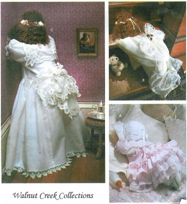 Victorian Doll Sewing Pattern Peek A Boo Praying Angel Baby Hiding Face Clothing 8466