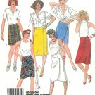 Retro Mod Skirt Sewing Pattern 14 Asymmetrical Front Wrap 2 Lengths Easy 80s Vintage 2415