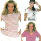 Retro Pullover Shirt Sewing Pattern Size 14 Disco Casual Top Blouse Boat Neck Short Sleeve 7516