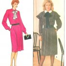 Evan Picone Tie Belt Dress Sewing Pattern 8 10 12 Vintage Loose Capelet Necktie Retro Mod 4682