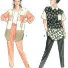 Misses Color Block Shirt Sewing Pattern Pull-on Pant 6-24 Button Front Oversize Shirt-tail 7769