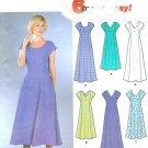 Summer Spring Dress Sewing Pattern 8-14 Easy Princess Seams Cap Sleeve 2 Lengths 7078
