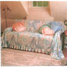Pillows Couch Chair Covers Throws Sewing Pattern Vintage 80s Easy Heart Round Square 9541