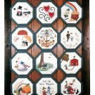Twelve Months Of The Year Wall Hanging Applique Quilt Stitchery Martha Mae Handford