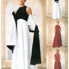 Evening Gown Sewing Pattern 8-12 Peek A Boo Sleeveless Empire Waist Wrap 9406