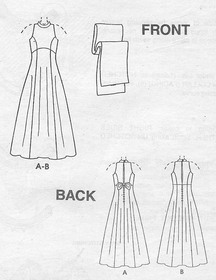 89bb9437a0c9 Evening Gown Sewing Pattern 8-12 Peek A Boo Sleeveless Empire Waist Wrap  9406
