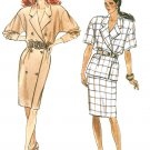 Dress Sewing Pattern 14-18 Retro Mod Slim Skirt Top Extended Shoulder Double Breasted 6193