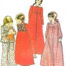 Girls Pajama Nightgown Robe Sewing Pattern 6/8 Long Sleeve Bolero Vest Fall Winter 5318