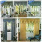 Easy Sewing Pattern Window Toppers Shaped Valance Canopy Balloon Drapes Curtain  7885
