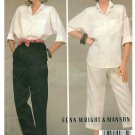 Loose Shirt Pants Sewing Pattern Vintage 14/16 Button Front Capri Easy Fenn Wright Manson 9078
