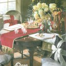 Holiday Table Runner Place Mat Sewing Pattern Elegant Bow Pillows Bottle Gift Bag 8996