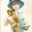 Jimmy Needlepoint Crewel Kit Vintage Country Boy Teddy Bear Spinning Top 10 x 14 Jan Hagara 1979