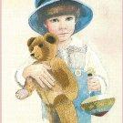 Jimmy Needlepoint Crewel Kit Vintage Country Boy Teddy Bear Spinning Top 10 x 14 Jan Hagara 1979