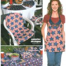 Patio Picnic Sewing Pattern Chair Cover Place Mat Apron Plate Holder Casserole Carrier 9161