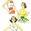1950s Blouse Top Sewing Pattern Sz 10 Halter Fitted Sleeveless Retro Vixen Pin-up Rockabilly  2591