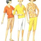 1950s Pullover Top Capri Pant Sewing Pattern Sz 12 Easy Cabin Boy Pedal Pusher Sleeveless 3/4 4946