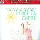 Bucilla Stamped Cross Stitch Kit Christmas Blessings Peace On Earth Shepherd Boy Manger Sampler