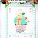 Daisy Kingdom Christmas Is Love Cross Stitch Stamped Aida Rabbit Winter Holiday Holly