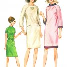 1960s Sheath Dress Sewing Pattern Sz 12 Long Short Sleeve Slim Fit Retro Mod Easy 6632