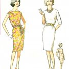 Shift Sheath Dress Sewing Pattern 1960s Sz 10 Bateau Neck Sleeveless 3/4 Easy 4947