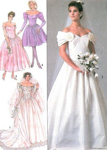 Off Shoulder Wedding Dress Sewing Pattern 16 Bridal Gown Bridesmaid