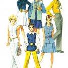 60s Sewing Pattern Mod Wardrobe 10 Vest Jacket Top Pants Short Skirt Pantsuit 8045