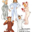 Bunny Tiger Mouse Pig Costume Sewing Pattern Child 6 Boy Girl Animal Halloween Easy Vintage 4945