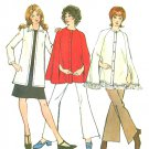 Cape Jacket Sewing Pattern 14 Vtg Easy Coat Hippie Mod 70s Lined Cardigan Hip Length 9868