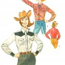 Ladies Western Shirt Sewing Pattern Sz 10 Vintage Cowgirl Rodeo Square Dance Ranch Costume 4704