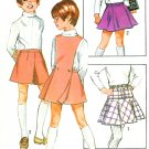 School Girl Skirt Jumper Sewing Pattern Sz 8 Skooter Pantskirt Uniform Bib 70s 8899