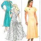 Drop Waist Dress Sewing Pattern 14 16 18 Plus Vintage Princess Seam Long Cap Sleeve Above Ankle 5590