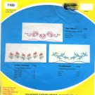Stamped Pillow Cases Embroidery Set Vintage Blue Flowers Flowerama Wonder Art Standard Cotton