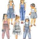 Girls Shoulder Tie Romper Dress Jumpsuit Sewing Pattern Sz 5 Tiered Sundress Easy 4775