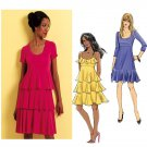 Tiered Dress Sewing Pattern Sz 6-12 Flounce Above Knee Tank 3/4 Sleeve Flapper 5313
