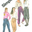 Harem Banded Pants Knickers Sewing Pattern 6 Jodhpurs Genie Riding Slacks 5236