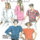 Oversize Blouse Sewing Pattern Plus 18 20 Kimono Sleeve Button Pullover Top Tie Waist Vintage  2945
