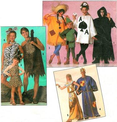 Flintstone Cleopatra King Halloween Costume Pattern 4-10 Child Scarecrow Robin Hood Grim Reaper 9945