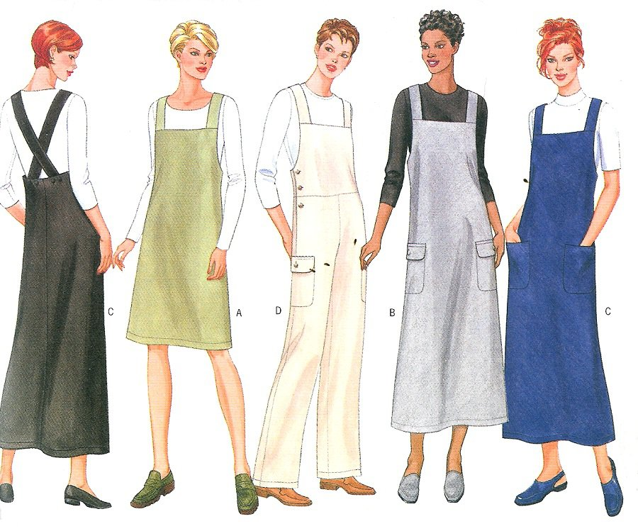 Jumper Jumpsuit Sewing Pattern 8-12 Easy Overalls Dress ...