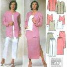 Wardrobe Sewing Pattern Easy Sz 10-18 Jacket Pant Capris Skirt Top Elastic Waist 5687